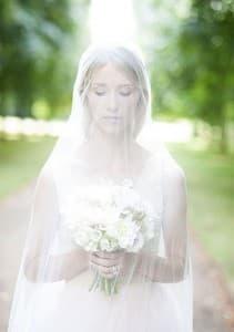 Cliveden House Bride Bouquet and Veil 2