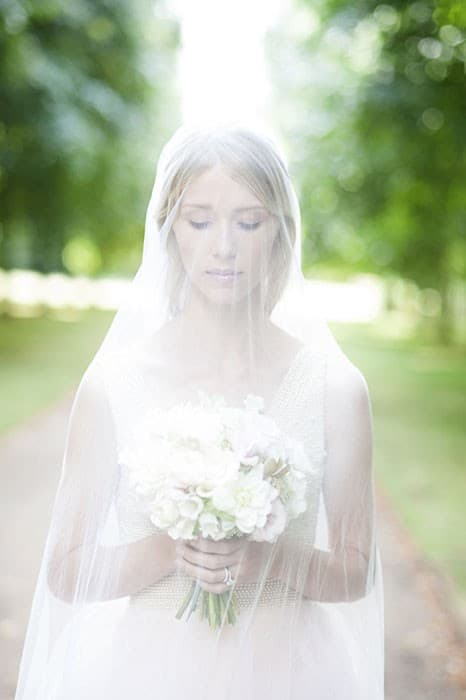 Cliveden House Bride Bouquet and Veil