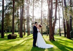 Surrey Woodland Bride Groom 0023 960x674