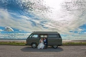 Wales Wedding Bride Groom Camper Van 960x638