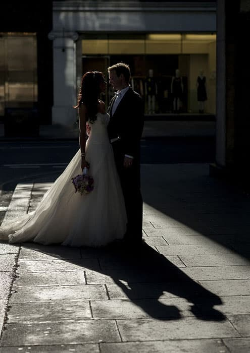 Millenium Hotel Knightsbridge Bride Groom Sunset Benjamin Wetherall Photography ©