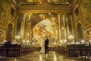 Royal Naval College Painted Hall Wedding Greenwich London Benjamin Wetherall Photography © 960x639