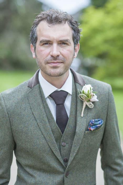 Upwaltham Barn Wedding Groom Benjamin Wetherall Photography ©