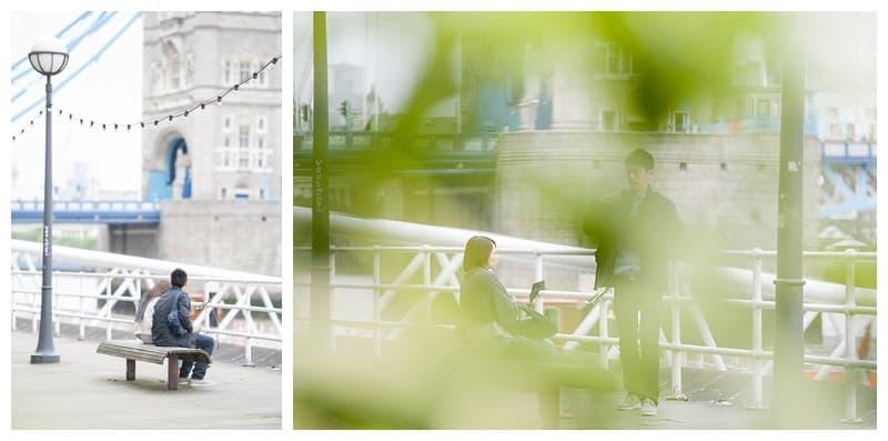 Kyle & Mandy Engagement Photoshoot, Tower Bridge, London, Benjamin Wetherall Photography0010