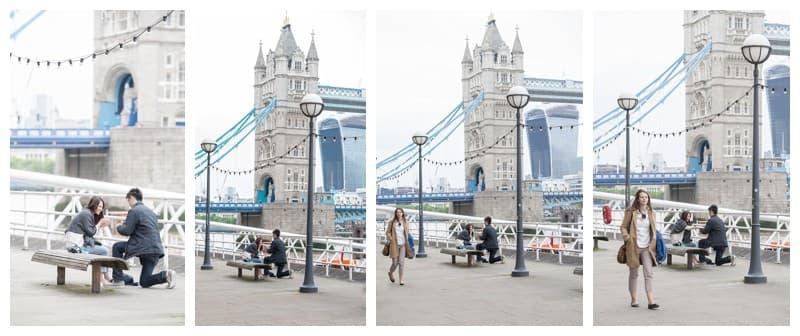 Kyle & Mandy Engagement Photoshoot, Tower Bridge, London, Benjamin Wetherall Photography0012