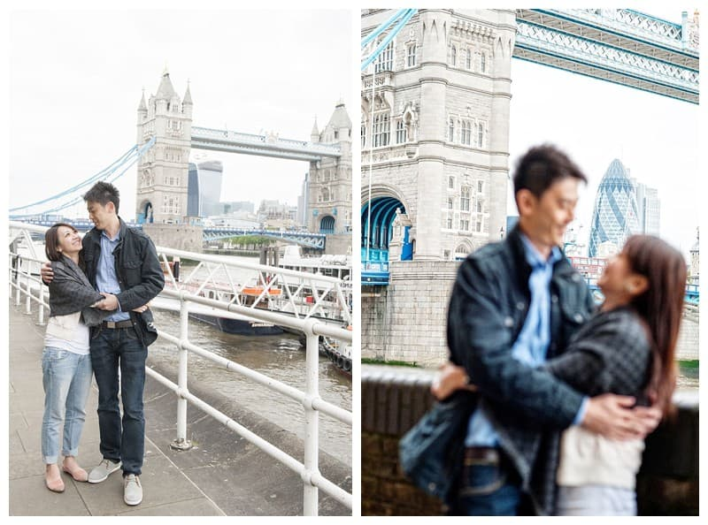 Kyle & Mandy Engagement Photoshoot, Tower Bridge, London, Benjamin Wetherall Photography0015