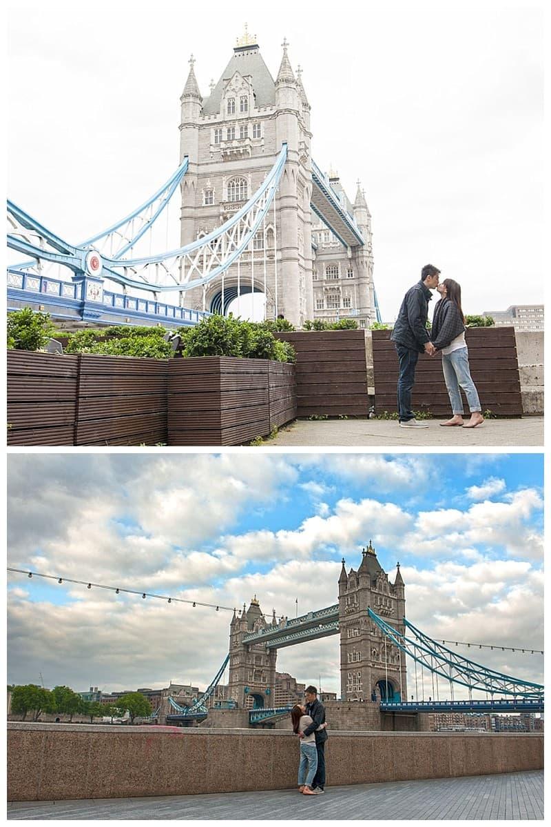 Kyle & Mandy Engagement Photoshoot, Tower Bridge, London, Benjamin Wetherall Photography0016