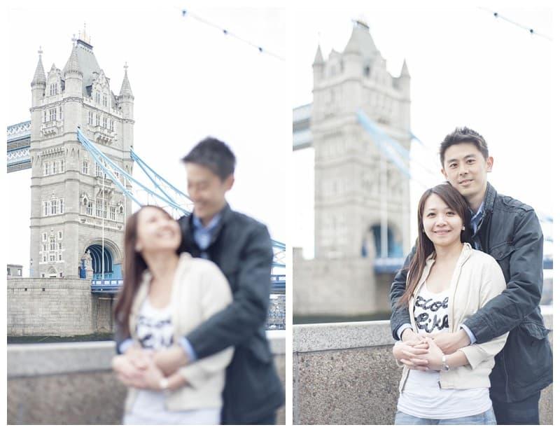 Kyle & Mandy Engagement Photoshoot, Tower Bridge, London, Benjamin Wetherall Photography0017