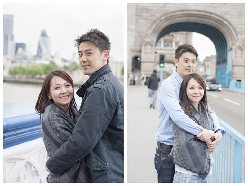 Kyle & Mandy Engagement Photoshoot, Tower Bridge, London, Benjamin Wetherall Photography0020