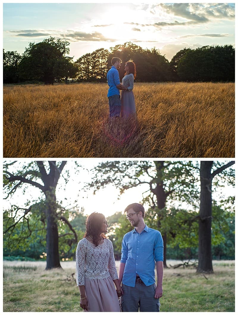 Nisha & Jamie, Richmond Park Engagement Photoshoot, Benjamin Wetherall Photography0001