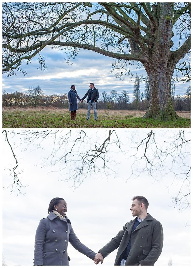 Sheyi & Simon Engagement Photoshoot, Bushy Park, London, Benjamin Wetherall Photography0001