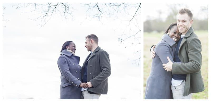 Sheyi & Simon Engagement Photoshoot, Bushy Park, London, Benjamin Wetherall Photography0002