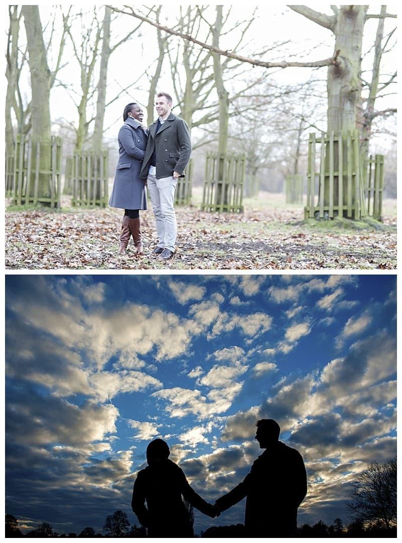Sheyi & Simon Engagement Photoshoot, Bushy Park, London, Benjamin Wetherall Photography0003