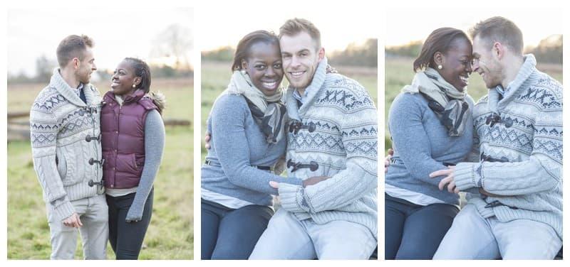 Sheyi & Simon Engagement Photoshoot, Bushy Park, London, Benjamin Wetherall Photography0004