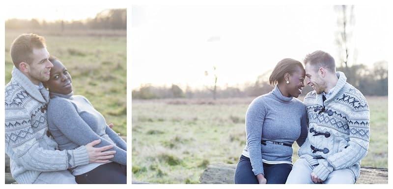 Sheyi & Simon Engagement Photoshoot, Bushy Park, London, Benjamin Wetherall Photography0005