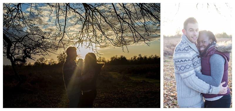 Sheyi & Simon Engagement Photoshoot, Bushy Park, London, Benjamin Wetherall Photography0006
