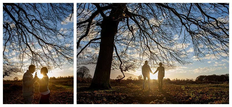 Sheyi & Simon Engagement Photoshoot, Bushy Park, London, Benjamin Wetherall Photography0007