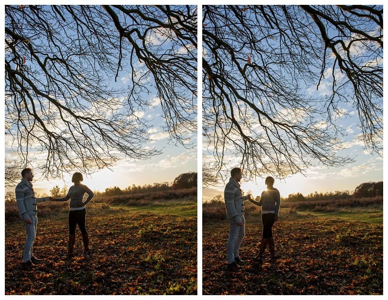 Sheyi & Simon Engagement Photoshoot, Bushy Park, London, Benjamin Wetherall Photography0008