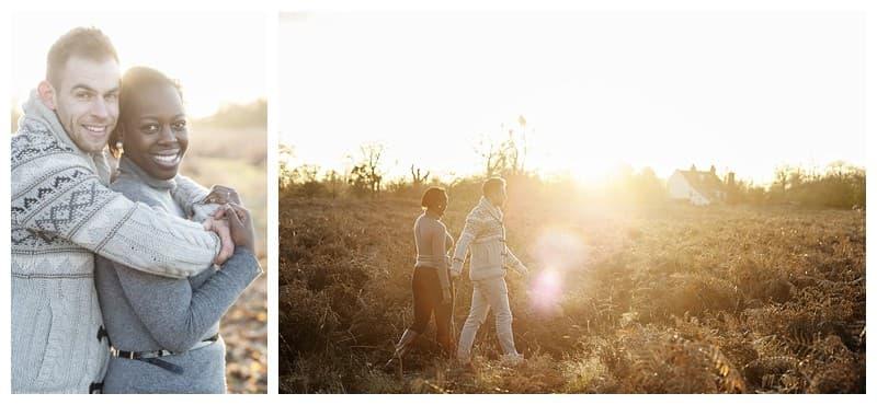 Sheyi & Simon Engagement Photoshoot, Bushy Park, London, Benjamin Wetherall Photography0010