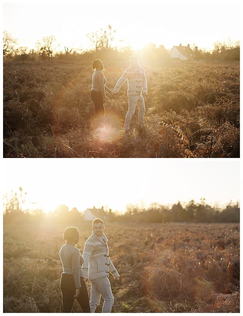 Sheyi & Simon Engagement Photoshoot, Bushy Park, London, Benjamin Wetherall Photography0011