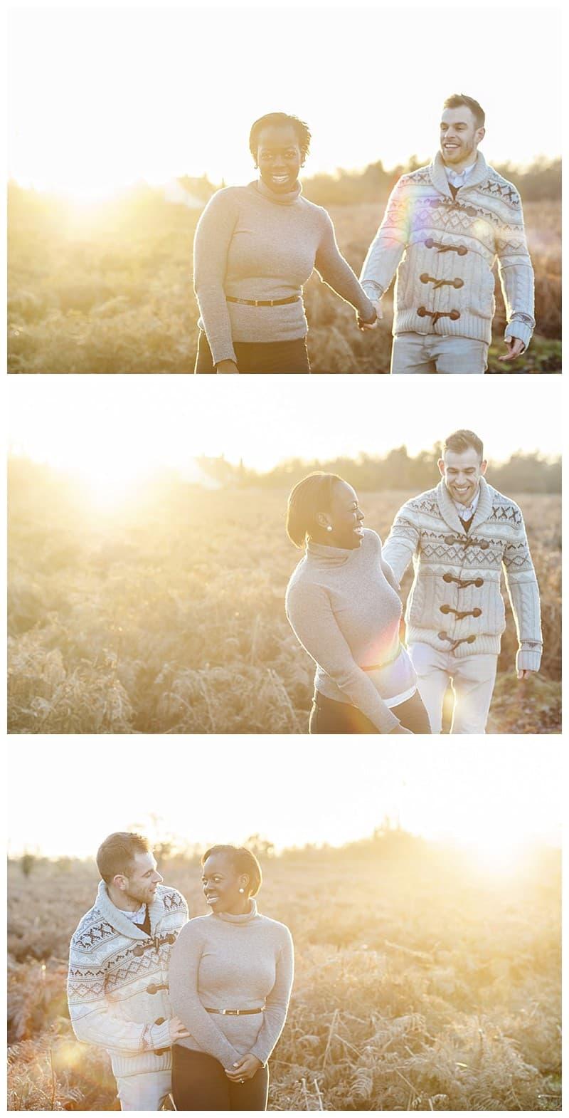 Sheyi & Simon Engagement Photoshoot, Bushy Park, London, Benjamin Wetherall Photography0013