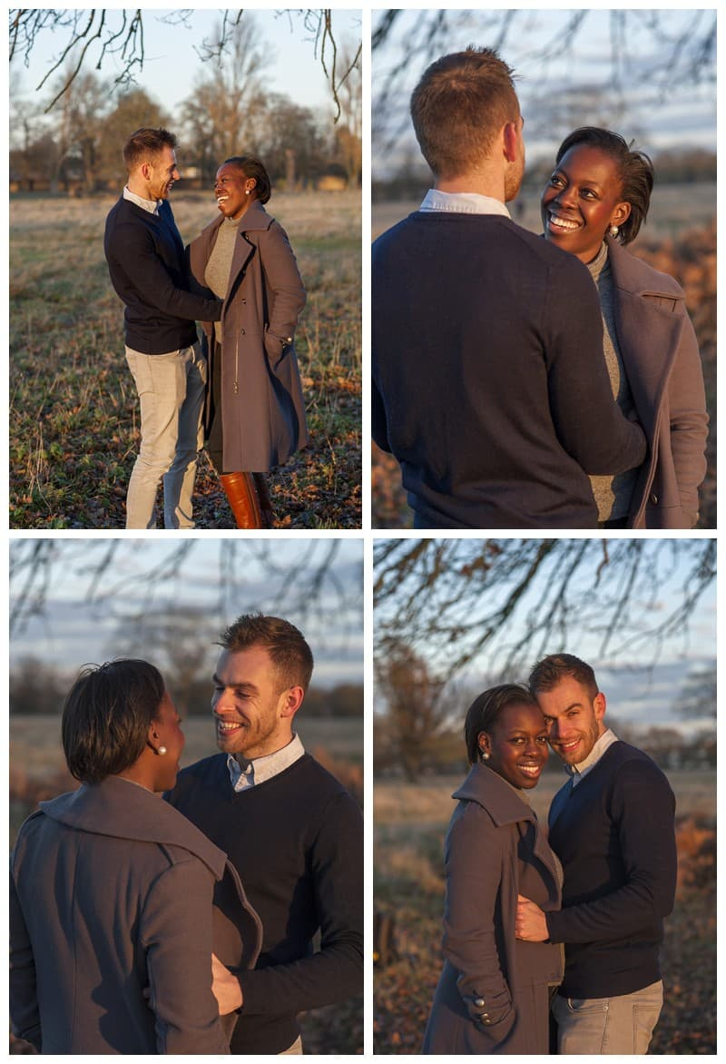 Sheyi & Simon Engagement Photoshoot, Bushy Park, London, Benjamin Wetherall Photography0014