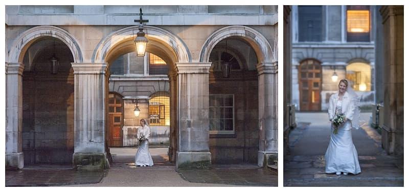 Royal Naval College Greenwich Wedding, Steve & Lisa, London Winter Wedding - Benjamin Wetherall Photography ©0004