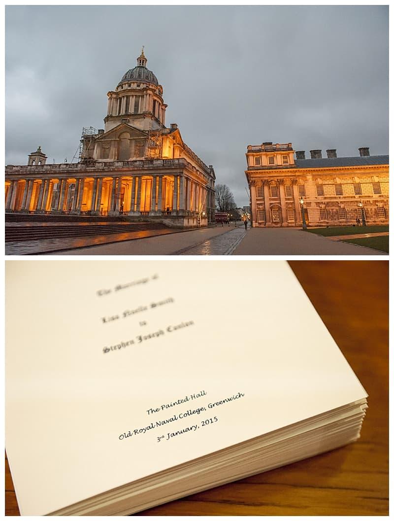 Royal Naval College Greenwich Wedding, Steve & Lisa, London Winter Wedding - Benjamin Wetherall Photography ©0005