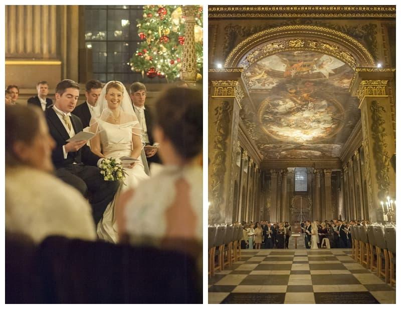 Royal Naval College Greenwich Wedding, Steve & Lisa, London Winter Wedding - Benjamin Wetherall Photography ©0021