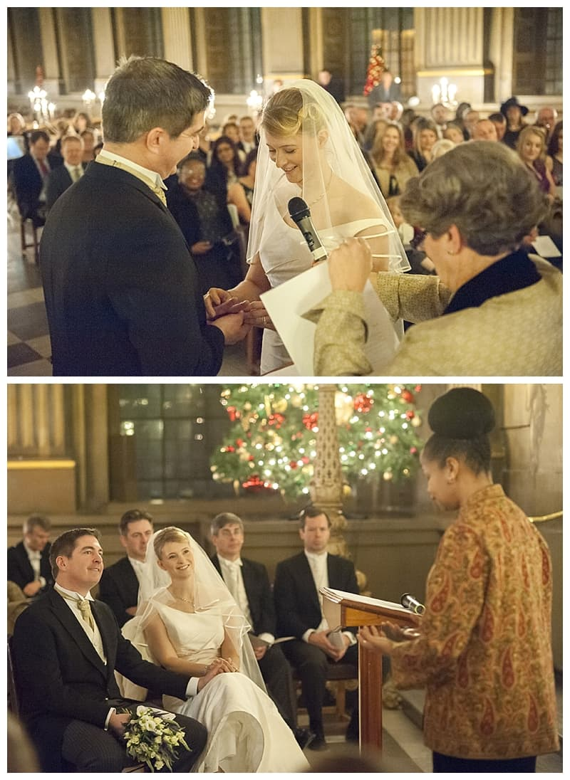 Royal Naval College Greenwich Wedding, Steve & Lisa, London Winter Wedding - Benjamin Wetherall Photography ©0026