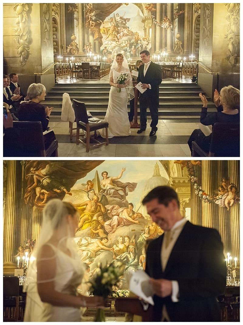 Royal Naval College Greenwich Wedding, Steve & Lisa, London Winter Wedding - Benjamin Wetherall Photography ©0028