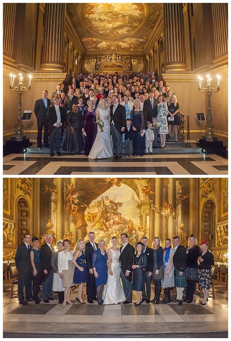 Royal Naval College Greenwich Wedding, Steve & Lisa, London Winter Wedding - Benjamin Wetherall Photography ©0030