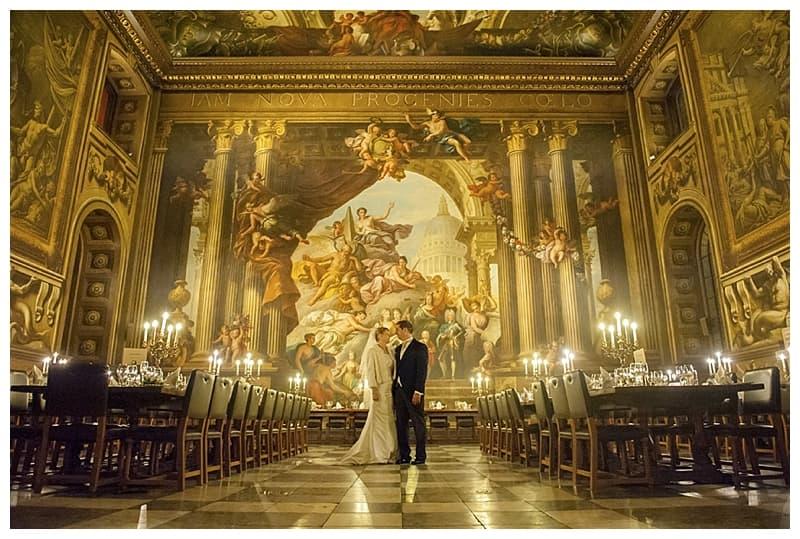 Royal Naval College Greenwich Wedding, Steve & Lisa, London Winter Wedding - Benjamin Wetherall Photography ©0032