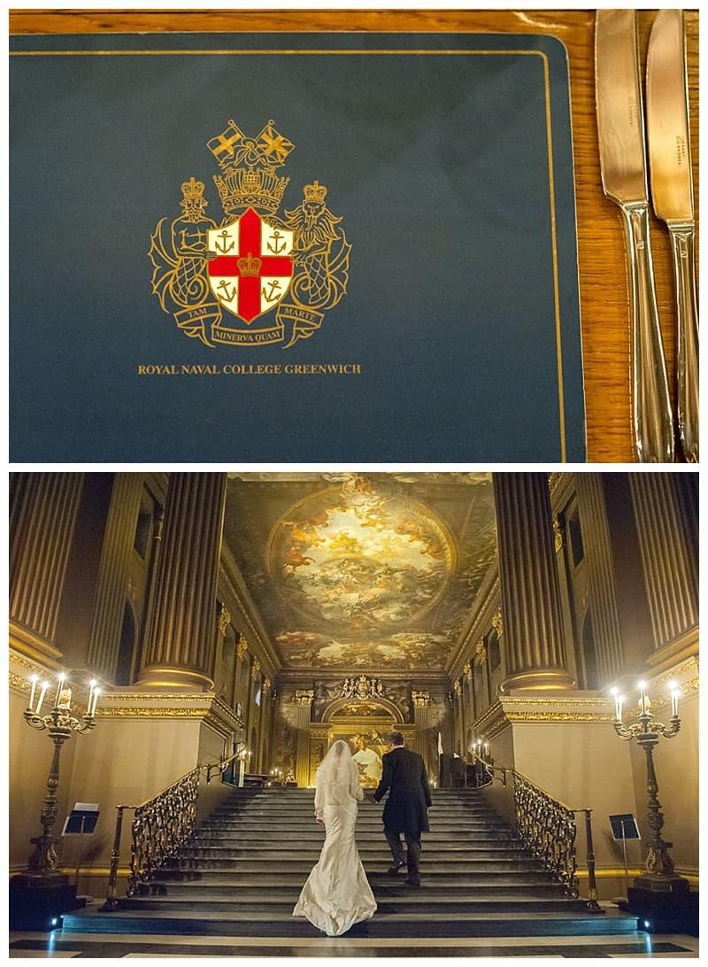 Royal Naval College Greenwich Wedding, Steve & Lisa, London Winter Wedding - Benjamin Wetherall Photography ©0039