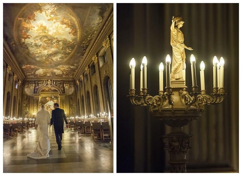 Royal Naval College Greenwich Wedding, Steve & Lisa, London Winter Wedding - Benjamin Wetherall Photography ©0040