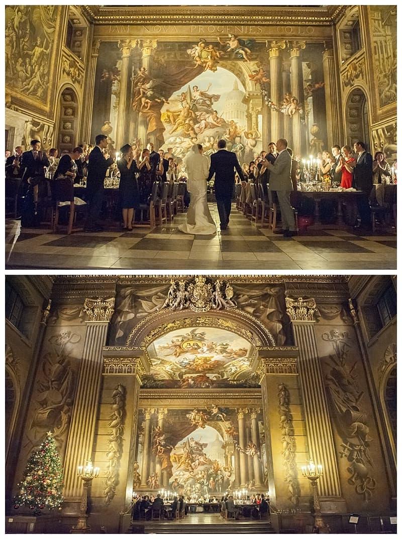Royal Naval College Greenwich Wedding, Steve & Lisa, London Winter Wedding - Benjamin Wetherall Photography ©0041