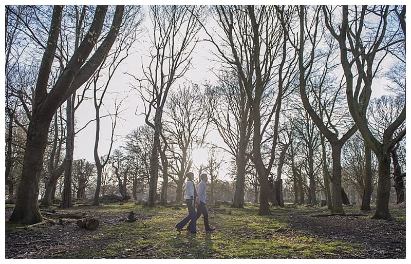 Alex & Laura, Richmond Park Engagement Photoshoot - Benjamin Wetherall Photography London ©0005