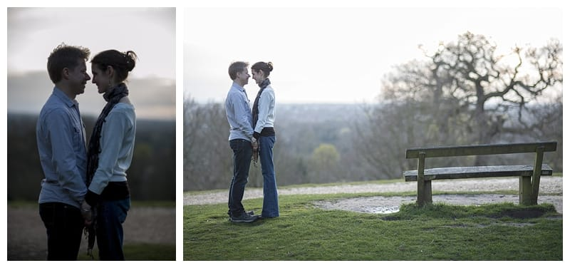 Alex & Laura, Richmond Park Engagement Photoshoot - Benjamin Wetherall Photography London ©0009