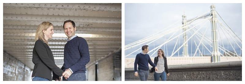 Sarah & Neil, Albert Bridge | Battersea Park | South West London Engagement Photoshoot, Benjamin Wetherall Photography ©0003