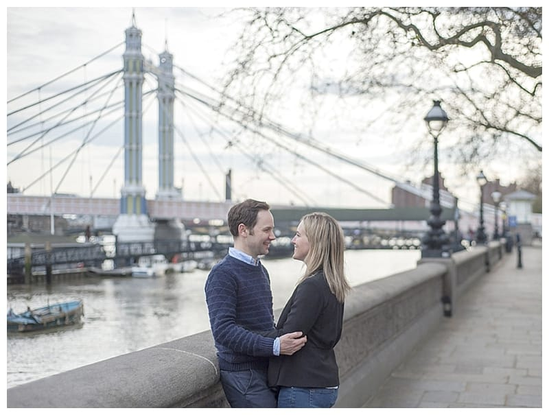 Sarah & Neil, Albert Bridge | Battersea Park | South West London Engagement Photoshoot, Benjamin Wetherall Photography ©0004