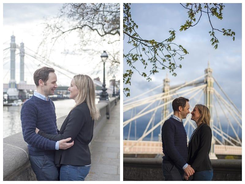 Sarah & Neil, Albert Bridge | Battersea Park | South West London Engagement Photoshoot, Benjamin Wetherall Photography ©0005