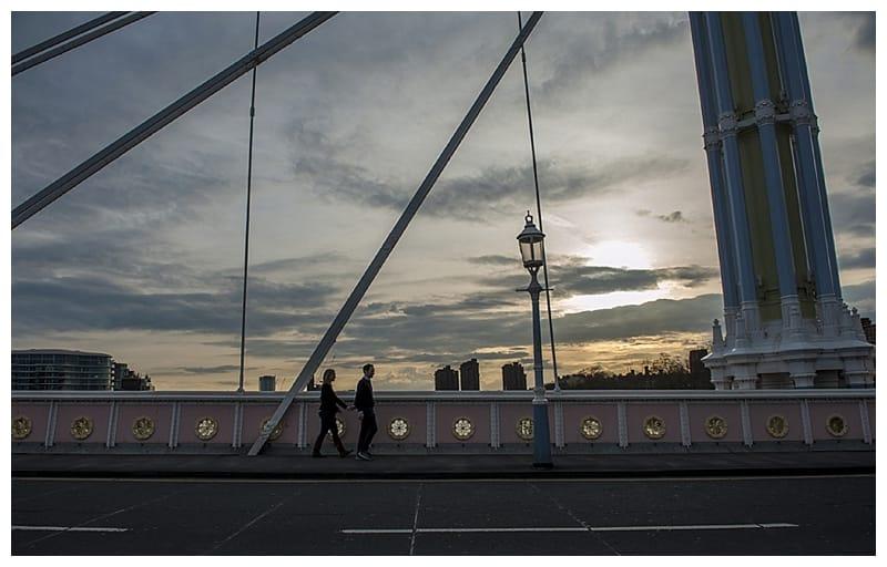 Sarah & Neil, Albert Bridge | Battersea Park | South West London Engagement Photoshoot, Benjamin Wetherall Photography ©0007