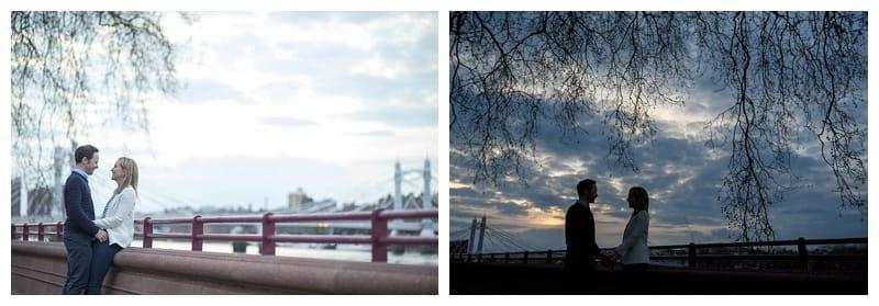 Sarah & Neil, Albert Bridge | Battersea Park | South West London Engagement Photoshoot, Benjamin Wetherall Photography ©0014