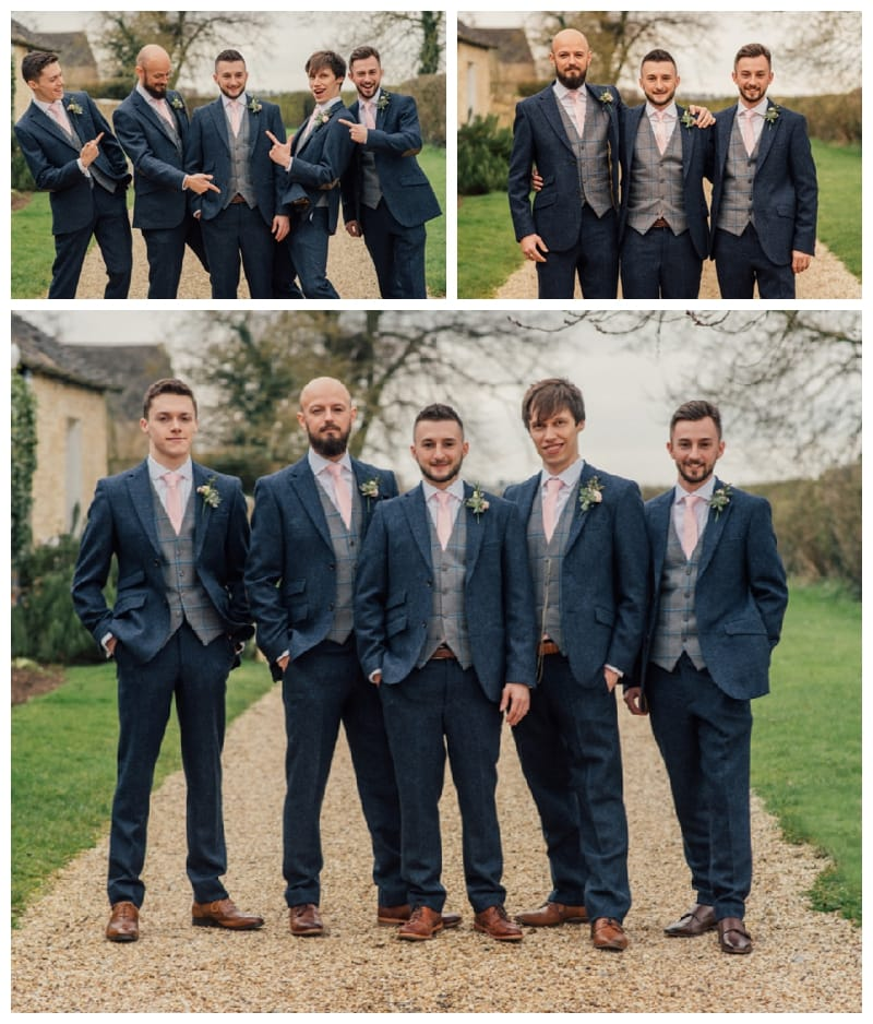 Groomsmen Photos and Guests arriving Merriscourt Wedding
