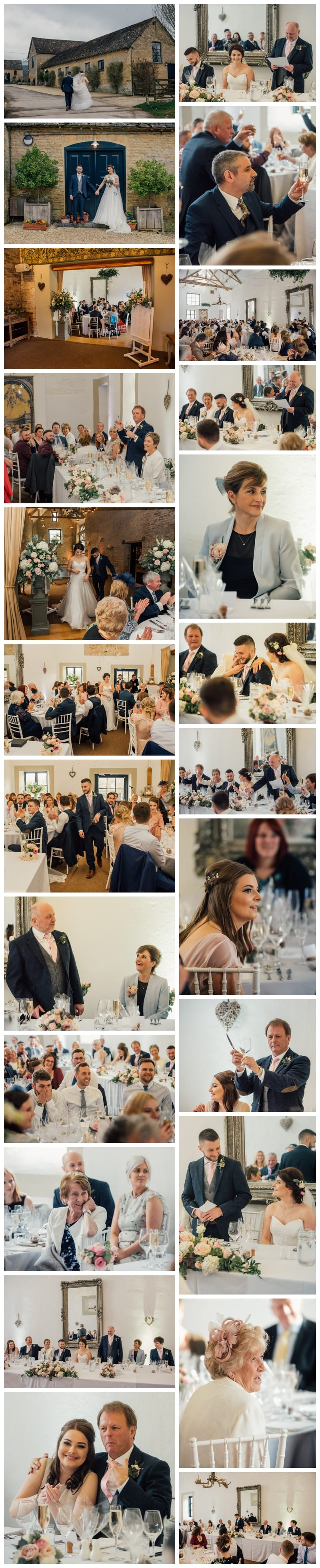 Speeches and Wedding Breakfast in the White Barn