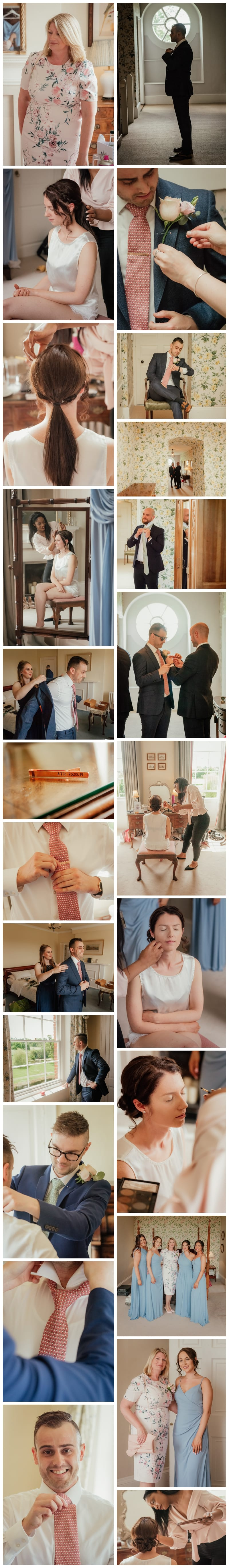 Ardington House bride and groom preparation