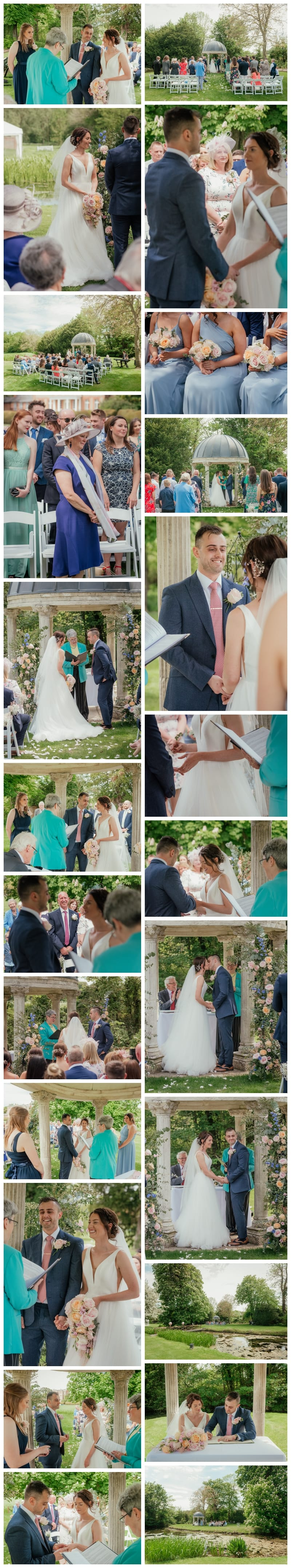 Ardington House Wedding Ceremony under arbour