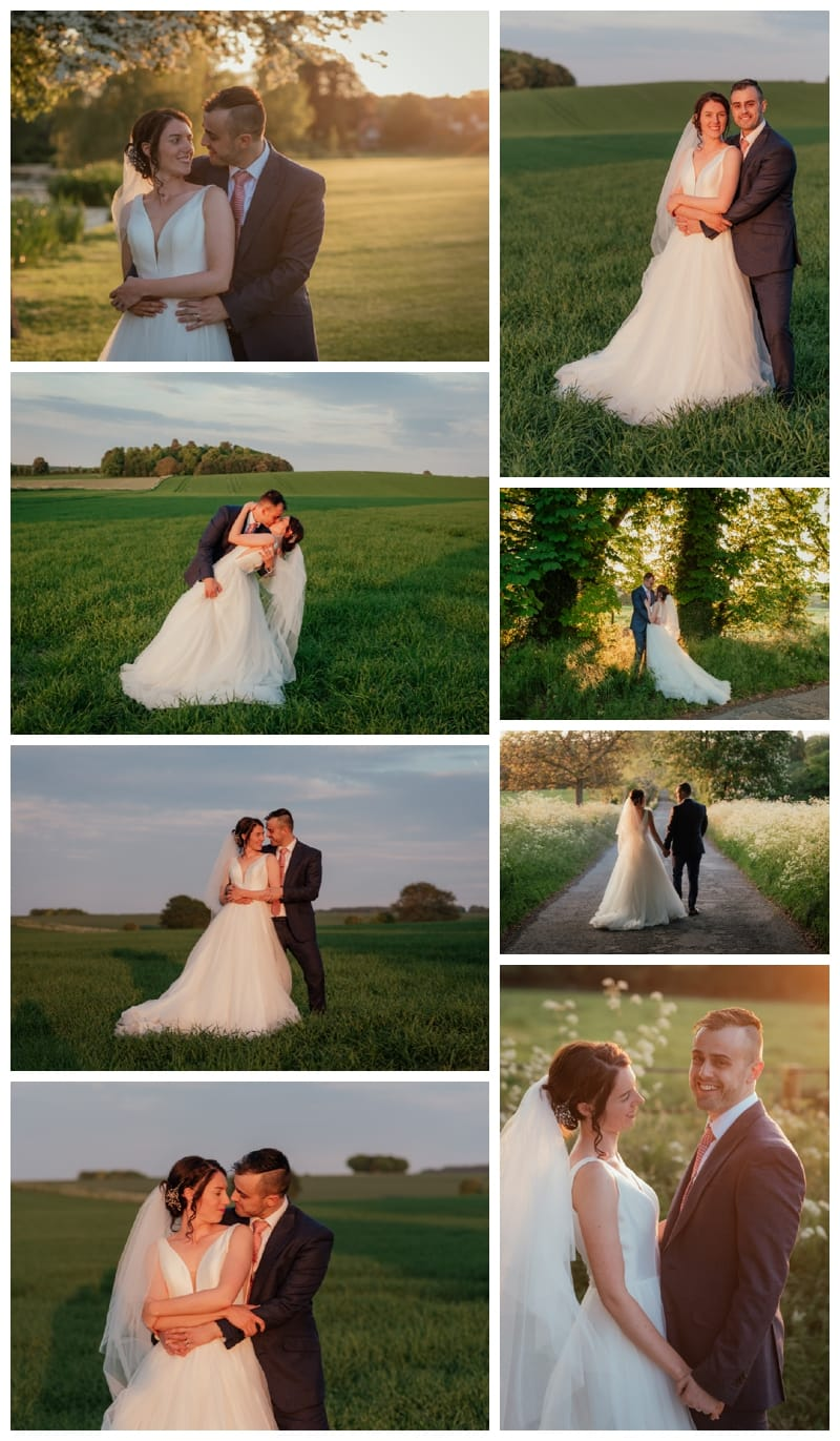 Sunset Wedding Couple Oxfordshire